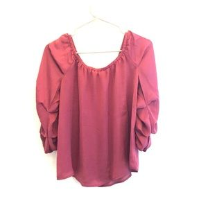 Dusty rose blouse